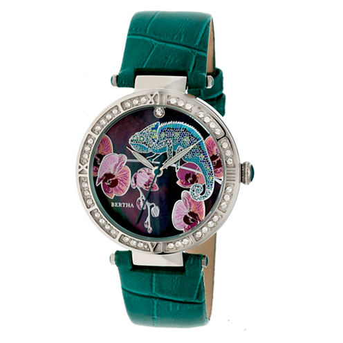 Bertha Womens Green Strap Watch-Bthbr6204