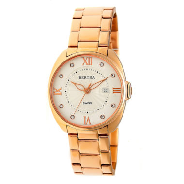 jcpenney.com | Bertha Womens Rose Goldtone Strap Watch-Bthbr6303