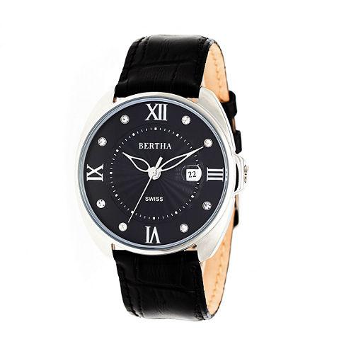 Bertha Womens Black Strap Watch-Bthbr6304