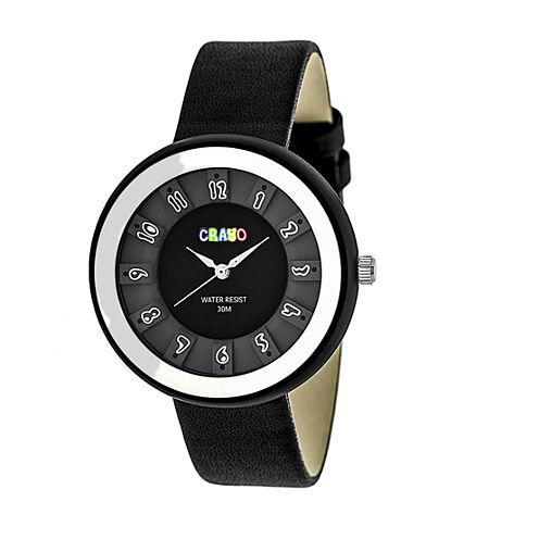 Crayo Unisex Black Strap Watch-Cracr3401