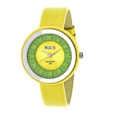 jcpenney.com | Crayo Unisex Yellow Strap Watch-Cracr3403
