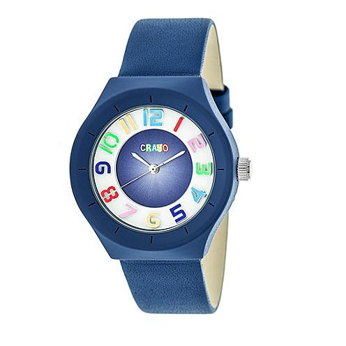 Crayo Unisex Blue Strap Watch-Cracr3506