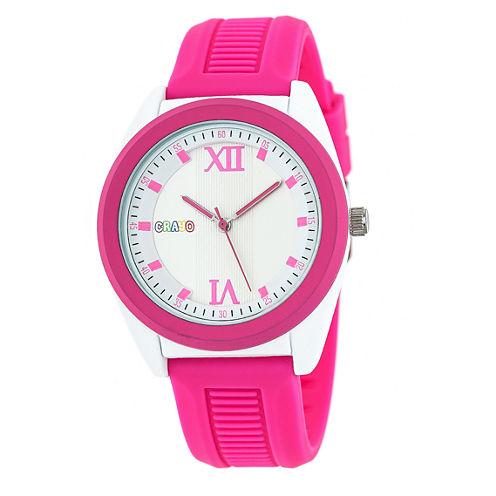 Crayo Unisex Pink Strap Watch-Cracr3602