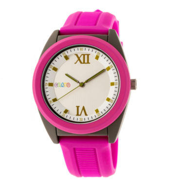 jcpenney.com | Crayo Unisex Pink Strap Watch-Cracr3607
