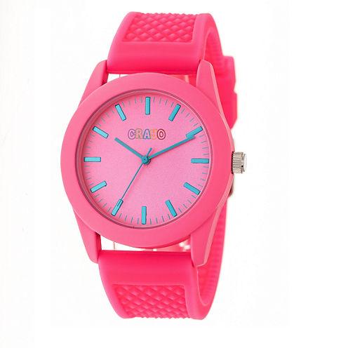 Crayo Unisex Pink Strap Watch-Cracr3706