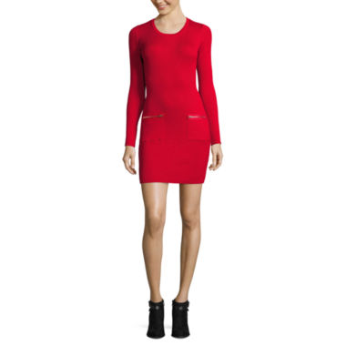 jcpenney.com | by&by Lace Long Sleeve Sweater Dress-Juniors
