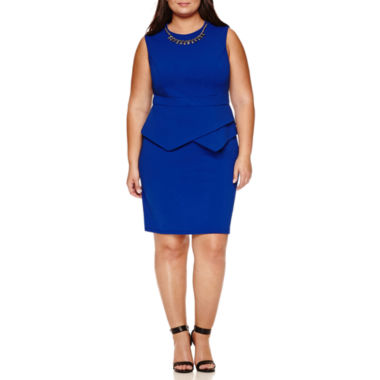 jcpenney.com | Bisou Bisou Sleeveless Sheath Dress-Plus