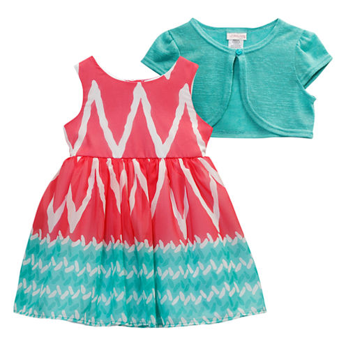 Young Land 2-pc. Jacket Dress Preschool Girls