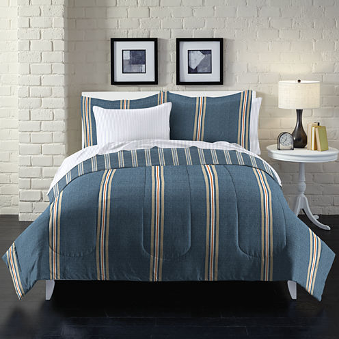 Loft Style Stripe Complete Bedding Set with Sheets