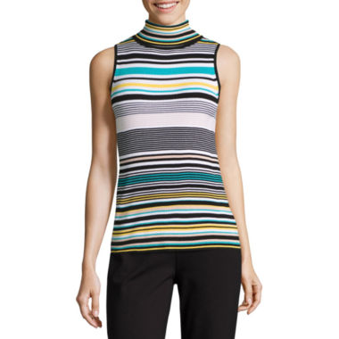 jcpenney.com | Liz Claiborne Sleeveless Turtleneck Pullover Sweater