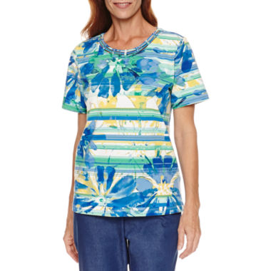 jcpenney.com | Alfred Dunner Short Sleeve Print Top