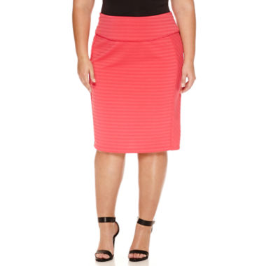 jcpenney.com | Bisou Bisou Pencil Skirt Plus