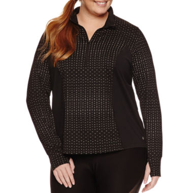 jcpenney.com | Xersion Long Sleeve Reflectve Half Zip T-Shirt-Plus
