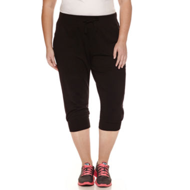 jcpenney.com | Xersion French Terry Workout Capris Plus