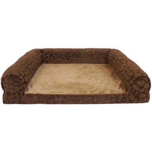 Canine Creations Ortholux Orthopedic Foam Rectangle Bolster Pet Bed