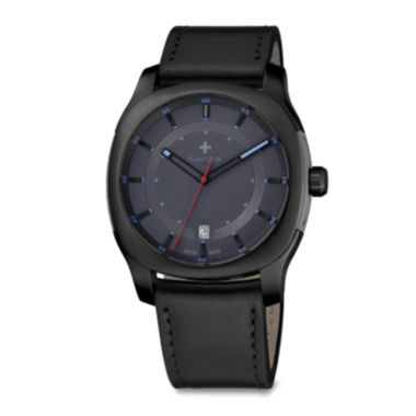 jcpenney.com | Swiza® Nowus Mens Black Leather Strap Watch