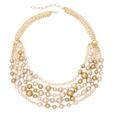 jcpenney.com | Vieste® Simulated Pearl 5-Row Necklace