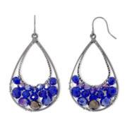 Vieste®Blue Teardrop Earrings