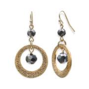 Bold Elements™ Drop Hoop Bead Earrings