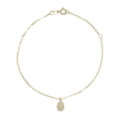 1/10 CT. T. W. Diamond 10K Yellow Gold Diamond Bracelet