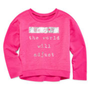 Total Girl® Photoreal Striped Sweatshirt - Girls 7-16