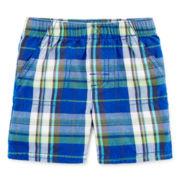 Okie Dokie® Plaid Shorts - Baby Boys newborn-24m