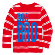 Okie Dokie® Striped Graphic Tee - Toddler Boys 2t-5t