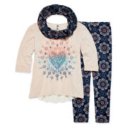 Knit Works Tunic, Leggings and Scarf - Girls 7-16