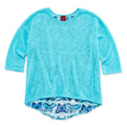 Arizona Chiffon-Back Top - Girls 7-16 and Plus