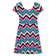 Total Girl® Cross-Back Skater Dress - Girls 7-16