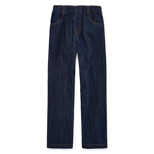 Okie Dokie® Pull-On Jeans - Preschool Boys 4-7