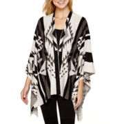 by&by 3/4-Sleeve Aztec Print Cardigan