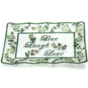 Pfaltzgraff® Winterberry Glass Live Laugh Love Rectangular Serving Platter