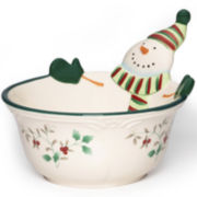 Pfaltzgraff® Winterberry Snowman All-Purpose Bowl
