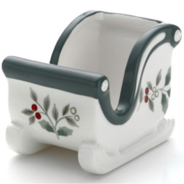 jcpenney.com | Pfaltzgraff® Winterberry Sled-Shaped Sweetener Holder