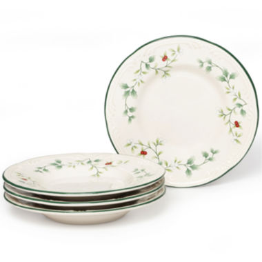 jcpenney.com | Pfaltzgraff® Winterberry Set of 4 Round Appetizer Plates