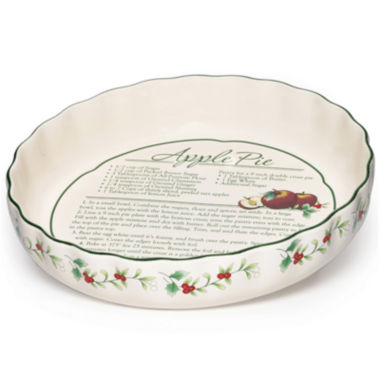 jcpenney.com | Pfaltzgraff® Winterberry Pie Plate with Recipe