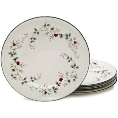 jcpenney.com | Pfaltzgraff® Winterberry Set of 4 Dinner Plates