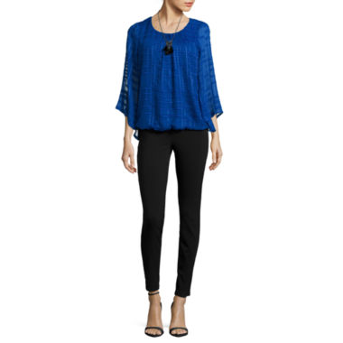 jcpenney.com | Alyx® Grid Bell-Sleeve Necklace Top or Millenium Straight Pants
