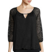 Alyx® Long-Sleeve Wavy Knit Bubble Top