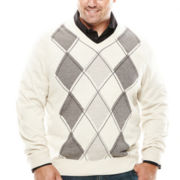 Dockers® V-Neck Argyle Sweater - Big & Tall