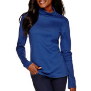 St. John's Bay® Long-Sleeve Knit Turtleneck Top