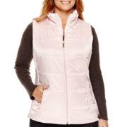 Liz Claiborne® Quilted Side Panel Puffer Vest - Plus