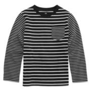 Okie Dokie® Long-Sleeve Striped Pocket Tee - Preschool Boys 4-7