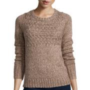 St. John's Bay® Long-Sleeve Marled Sweater - Petite