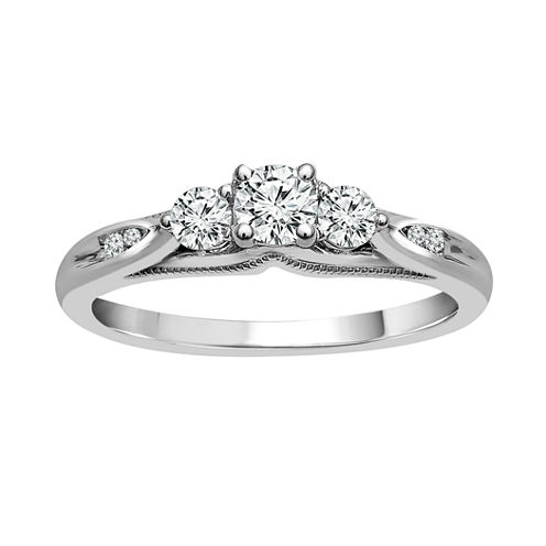 LIMITED QUANTITIES! 3/8 CT. T.W. Round Diamond 10K Gold Promise Ring