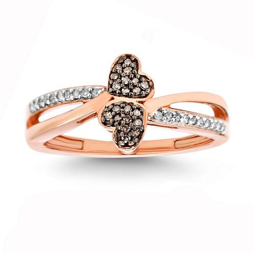 1/10 CT. T.W. White Diamond 10K Gold Cocktail Ring
