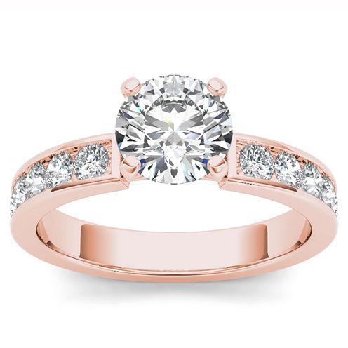 1 1/2 CT. T.W. Round White Diamond 14K Gold Engagement Ring