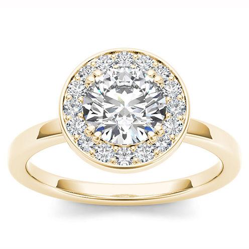 1 CT. T.W. Round White Diamond 14K Gold Halo Ring
