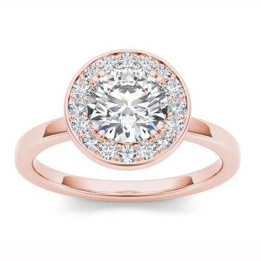 jcpenney.com | 1 CT. T.W. Round White Diamond 14K Gold Halo Ring